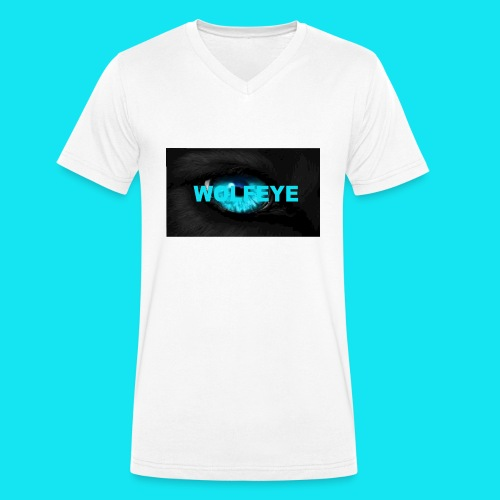 WolfEye T-Shirt - Men's Organic V-Neck T-Shirt by Stanley & Stella