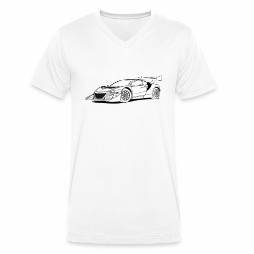 Concept Car White - Men's Organic V-Neck T-Shirt by Stanley & Stella