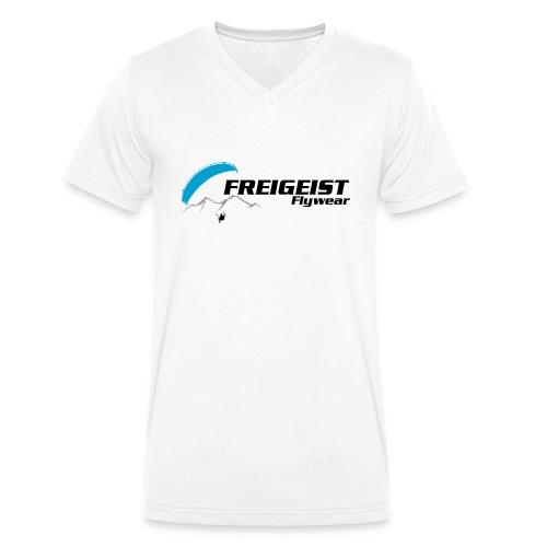 Freigeist-Flywear logo - Männer Bio-T-Shirt mit V-Ausschnitt von Stanley & Stella