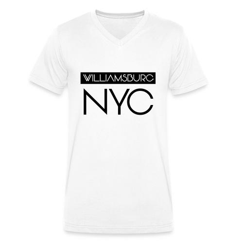 williamsburg - Men's Organic V-Neck T-Shirt by Stanley & Stella