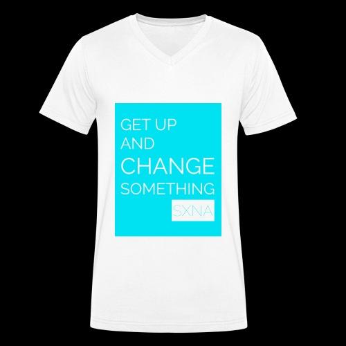 Change by SXNA 2.0 - Männer Bio-T-Shirt mit V-Ausschnitt von Stanley & Stella