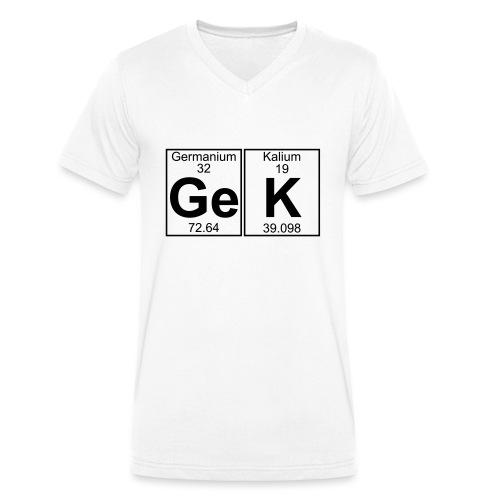 Ge-K (gek) - Full - Men's Organic V-Neck T-Shirt by Stanley & Stella
