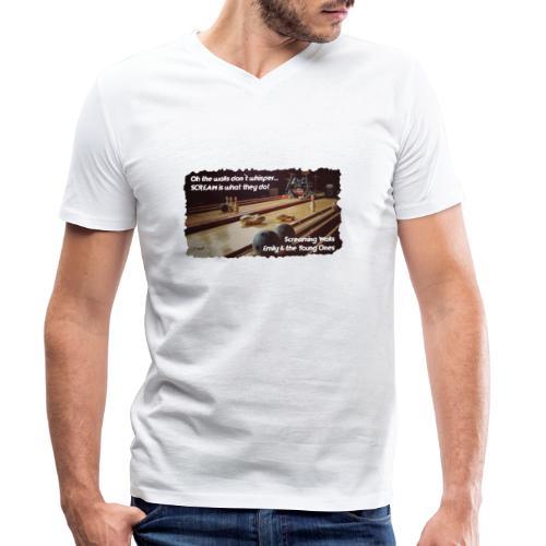Shirt Screaming Walls - Mannen bio T-shirt met V-hals van Stanley & Stella