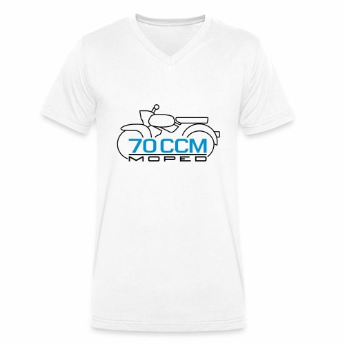 Moped Sperber Habicht 70 ccm Emblem - Men's Organic V-Neck T-Shirt by Stanley & Stella