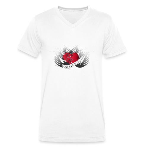 Love Hurts - Liebe verletzt - Männer Bio-T-Shirt mit V-Ausschnitt von Stanley & Stella