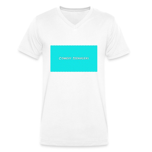 Light Blue Comedy Teenagers T Shirt - Ekologisk T-shirt med V-ringning herr från Stanley & Stella