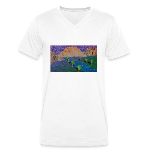 Silent river - Men's Organic V-Neck T-Shirt by Stanley & Stella