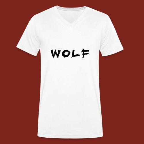 Wolf Font png - Mannen bio T-shirt met V-hals van Stanley & Stella