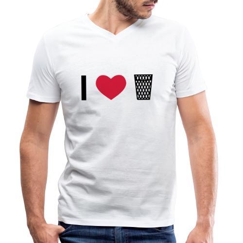 I love Äppler - Männer Bio-T-Shirt mit V-Ausschnitt von Stanley & Stella