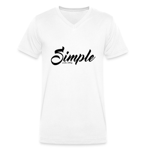 Simple: Clothing Design - Men's Organic V-Neck T-Shirt by Stanley & Stella
