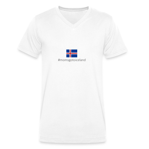 Iceland - Men's Organic V-Neck T-Shirt by Stanley & Stella