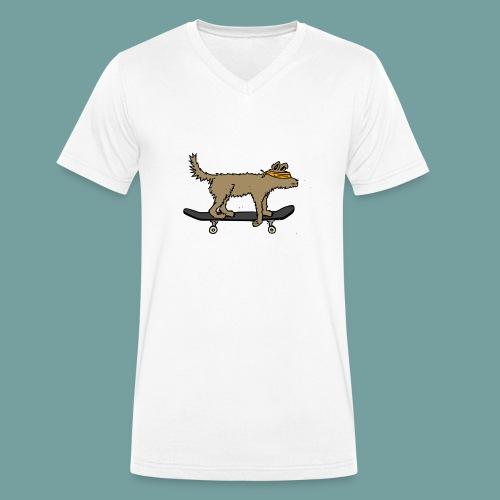 a blind dog skating - Männer Bio-T-Shirt mit V-Ausschnitt von Stanley & Stella