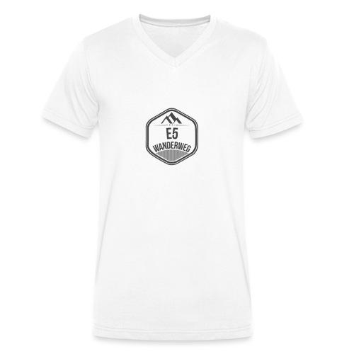 Wanderweg E5 Logo - Männer Bio-T-Shirt mit V-Ausschnitt von Stanley & Stella