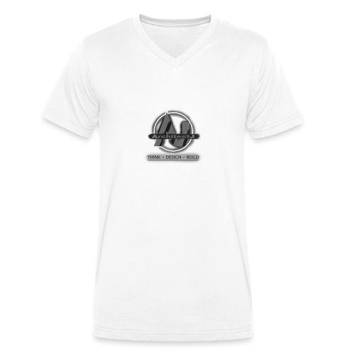ArchitectJ_Logo_with_Slogan_-transparent_backgroun - Mannen bio T-shirt met V-hals van Stanley & Stella