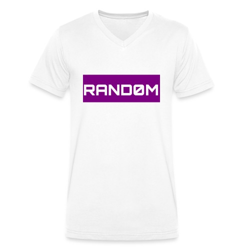 RAND0M SMALL LOGO - Men's Organic V-Neck T-Shirt by Stanley & Stella