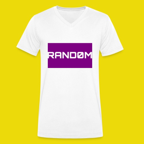 Random Logo - Men's Organic V-Neck T-Shirt by Stanley & Stella