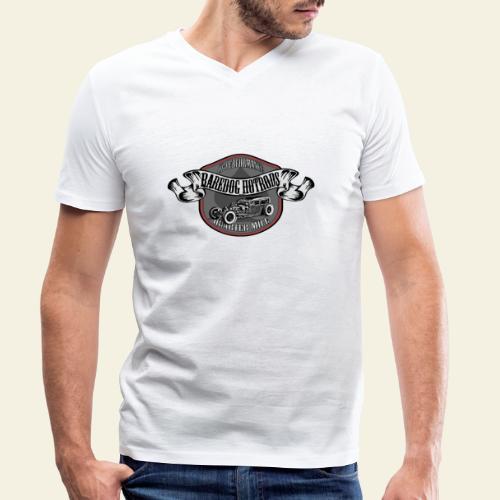 rod logo - Økologisk Stanley & Stella T-shirt med V-udskæring til herrer