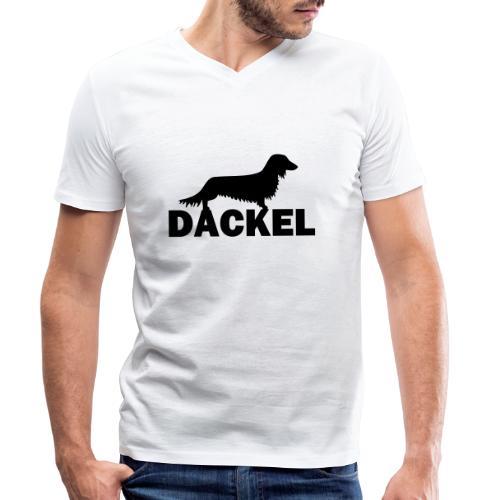 Dackel - Männer Bio-T-Shirt mit V-Ausschnitt von Stanley & Stella