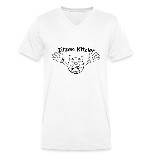 Zitzenkitzler - Männer Bio-T-Shirt mit V-Ausschnitt von Stanley & Stella