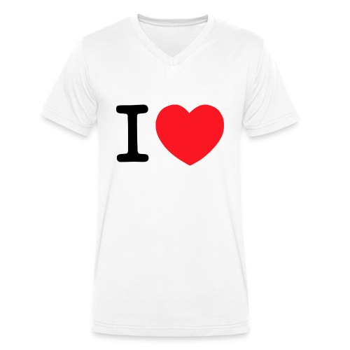i-luve - Männer Bio-T-Shirt mit V-Ausschnitt von Stanley & Stella