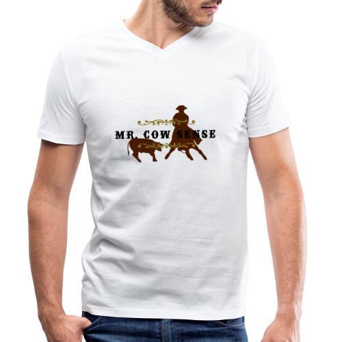 (mr_cowsense_neu) - Männer Bio-T-Shirt mit V-Ausschnitt von Stanley & Stella