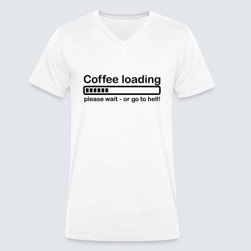 Coffee loading - Männer Bio-T-Shirt mit V-Ausschnitt von Stanley & Stella