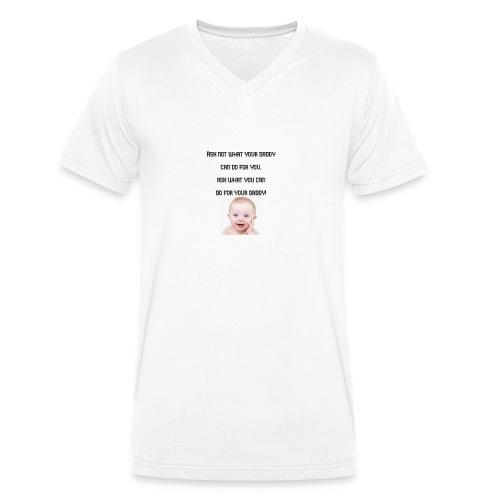 daddy tshirt sort tekst - Men's Organic V-Neck T-Shirt by Stanley & Stella