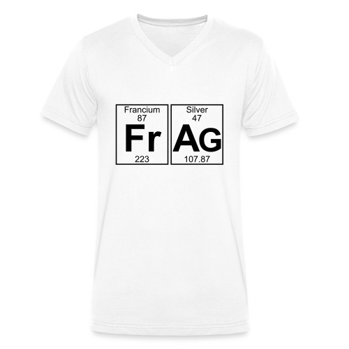 Fr-Ag (frag) - Full - Men's Organic V-Neck T-Shirt by Stanley & Stella