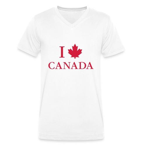 I love Canada Ahornblatt Kanada Vancouver Ottawa - Men's Organic V-Neck T-Shirt by Stanley & Stella