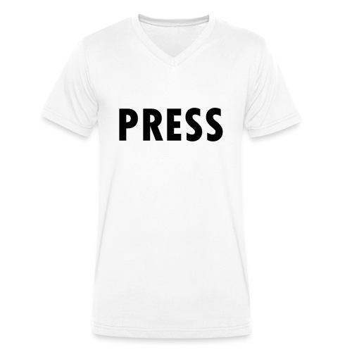 press - Männer Bio-T-Shirt mit V-Ausschnitt von Stanley & Stella