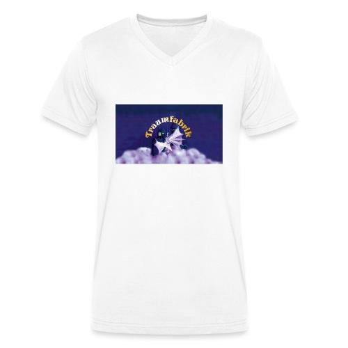TF17 Logo Querformat jpg - Männer Bio-T-Shirt mit V-Ausschnitt von Stanley & Stella