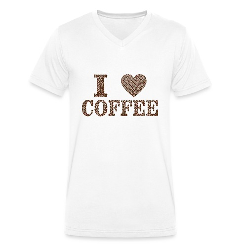 Isle of Coffeelover - Men's Organic V-Neck T-Shirt by Stanley & Stella
