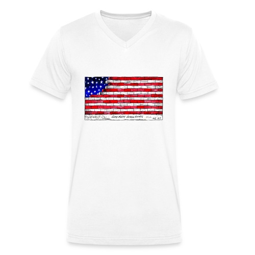 Good Night Human Rights - Men's Organic V-Neck T-Shirt by Stanley & Stella
