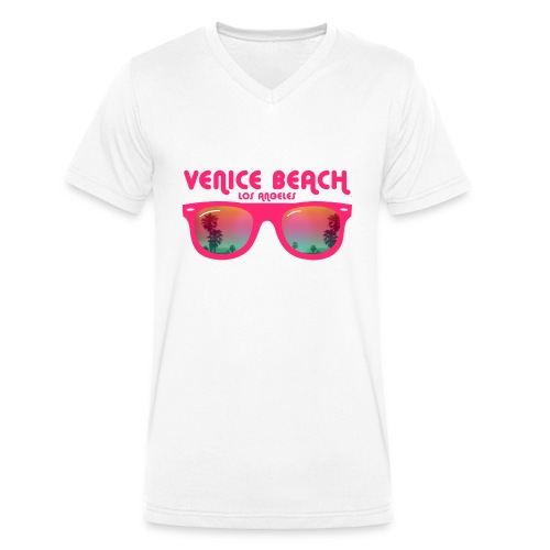 Venice Beach Los Angeles - Men's Organic V-Neck T-Shirt by Stanley & Stella
