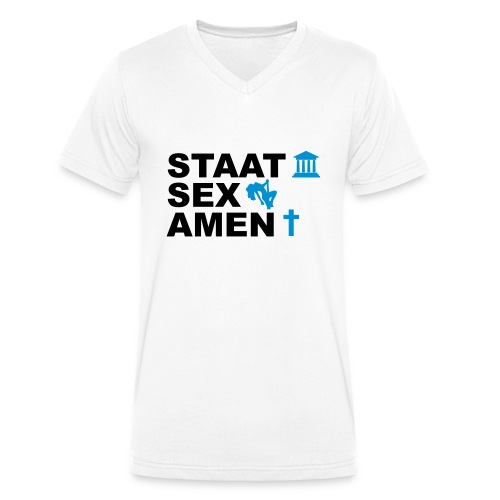 Staatsexamen / Staat Sex Amen - Männer Bio-T-Shirt mit V-Ausschnitt von Stanley & Stella