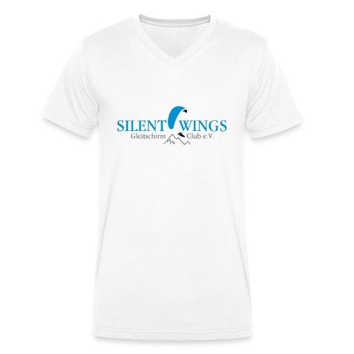 Silent Wings Logo 3 farbig - Männer Bio-T-Shirt mit V-Ausschnitt von Stanley & Stella