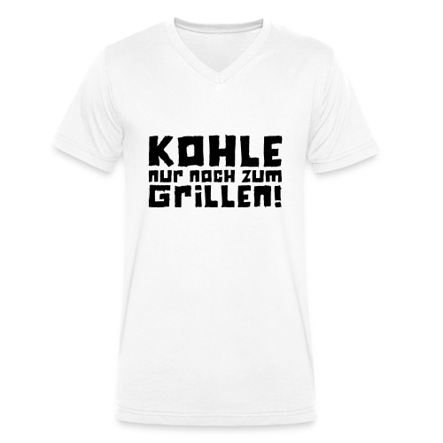 Kohle nur noch zum Grillen - Logo - Männer Bio-T-Shirt mit V-Ausschnitt von Stanley & Stella