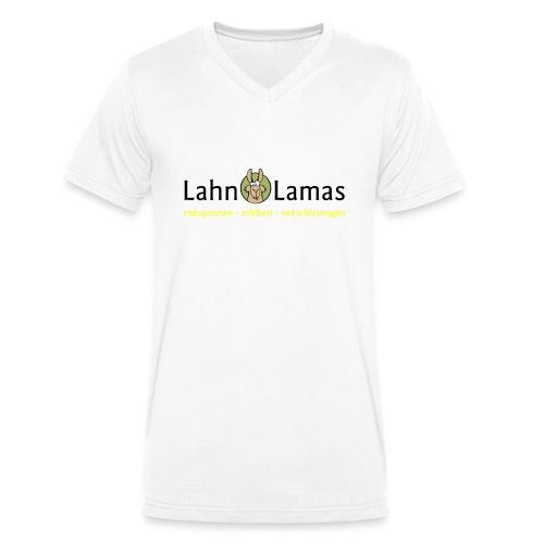 Lahn Lamas - Männer Bio-T-Shirt mit V-Ausschnitt von Stanley & Stella