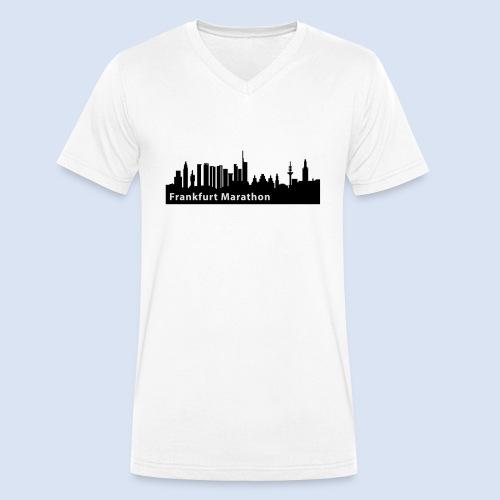 Frankfurt Marathon Skyline - Männer Bio-T-Shirt mit V-Ausschnitt von Stanley & Stella