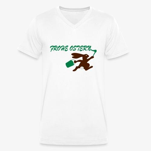 Frohe Ostern Bunny - Männer Bio-T-Shirt mit V-Ausschnitt von Stanley & Stella