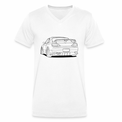 cool car white - Men's Organic V-Neck T-Shirt by Stanley & Stella
