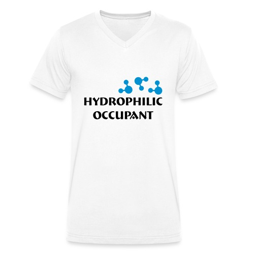 Hydrophilic Occupant (2 colour vector graphic) - Men's Organic V-Neck T-Shirt by Stanley & Stella