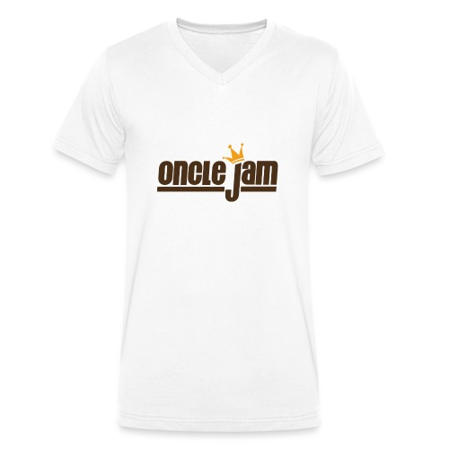 Oncle Jam horizontal brun - T-shirt bio col V Stanley & Stella Homme