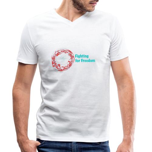 Fighting for Freedom - Men's Organic V-Neck T-Shirt by Stanley & Stella