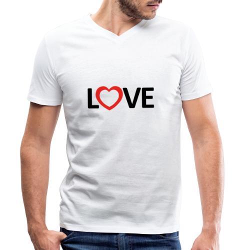 Love - Camiseta ecológica hombre con cuello de pico de Stanley & Stella