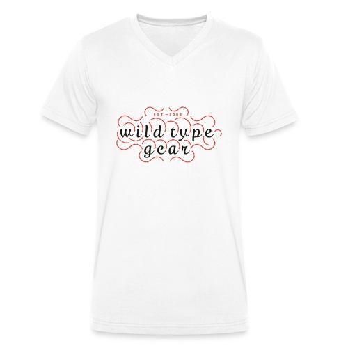 wtg stiched 2 - Men's Organic V-Neck T-Shirt by Stanley & Stella