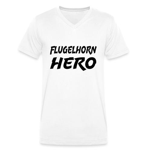 Flugelhorn Hero - Økologisk T-skjorte med V-hals for menn fra Stanley & Stella