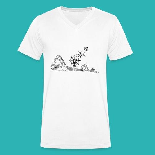 Carta_timone-png - T-shirt ecologica da uomo con scollo a V di Stanley & Stella