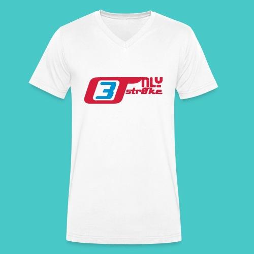 only3stroke - Männer Bio-T-Shirt mit V-Ausschnitt von Stanley & Stella