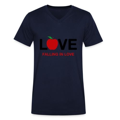 Falling in Love - Black - Men's Organic V-Neck T-Shirt by Stanley & Stella
